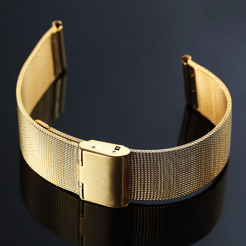 UTHAI S02 Universal Milanese Watchband 8-24mm Silver Stainless Steel 20mm watch strap Replacement Bracelet 22mm watch band