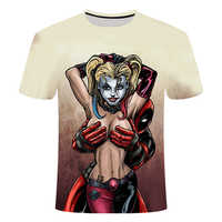 New Women Harley Deadpool T Shirt Superman The Joker Suicide Squad Men Tee Shirt Homme 3D Camiseta Shirts Hip Hop Tees