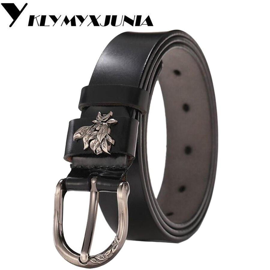 Women Leather Belt NEW Belt For Women Genuine Cowhide Leather Belt With Alloy Buckle width:2.8cm,95-110cm