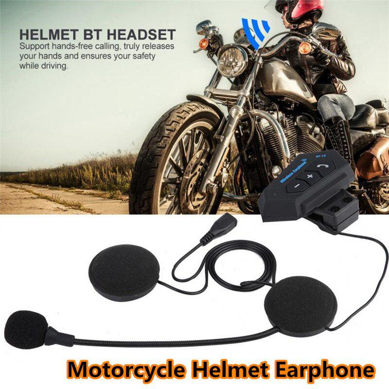 Motorcycle Helmet Headset Motorcycle Helmet Riding Earphone Intercom Wireless Bluetooth Headphone Speakers Hands-free Calling