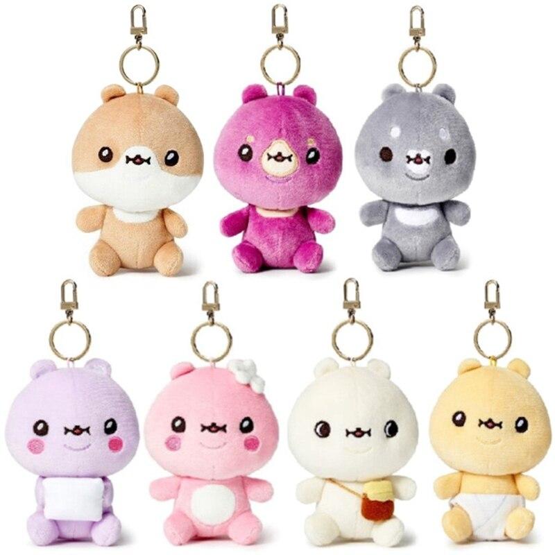 12Cm Monsta X Cute Plush Toy Pendant Cartoon Bag Keychain Plush Doll Gifts For Children Cute Stuffed Toys Keyring