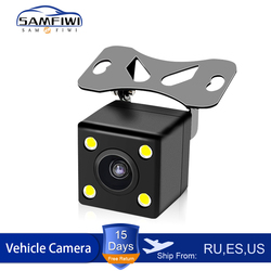 Car reversing camera 4 LED Infrared night vision rear view automatic parking monitoring CCD video backup Wide Angle HD Camera