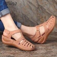 Летние женские босоножки; удобные женские босоножки с круглым носком; обувь на мягкой подошве; модные сандалии; Sandalias Mujer;
