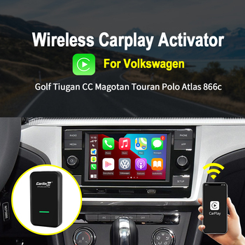 Carlinkit 2,0 inalámbrico CarPlay adaptador para VW 2016-2020 coche Original con CarPlay conectado a Dongle inalámbrico de conexión automática de IOS 14