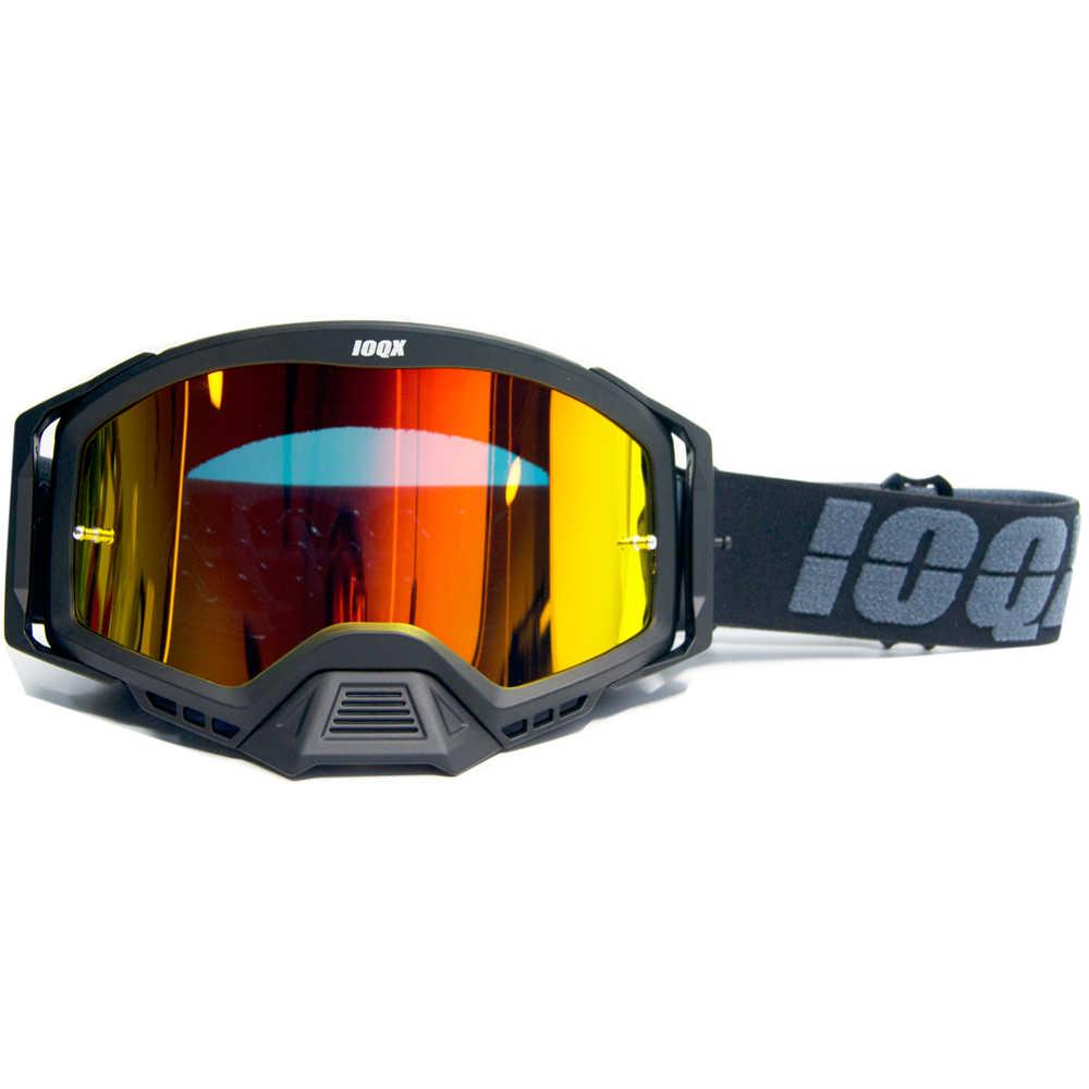 Cornice verde + lente colorata Occhiali da moto Motocross Off Road Eyes Protection Dirt Bike Racing Occhiali