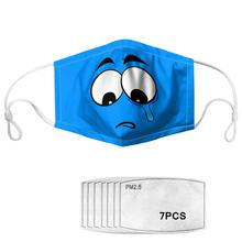 Adult customizable masks with 7 filters, dustproof and antifog, reusable, washable masks, breathable