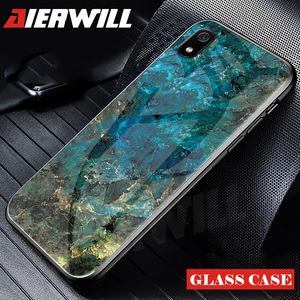 Image 3 - Luxury Glass Case For Redmi 7A Case 9H Tempered Glass Silicone Cover Hybrid Bumper Back phone Cover For Xiaomi Redmi 7 Case