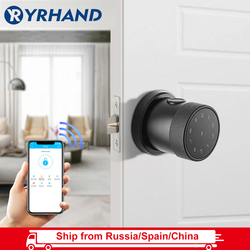 Smart Lock Fingerprint Biometric Door Lock Keyless Touchscreen Keypad Card Electronic Digital Door Lock with TT lock app
