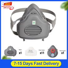 POWECOM 3700 Dust Mask Particulate Respirator Half Face Mask  Filter Cotton Socket Protective Face Mouth Mask Anti Dust