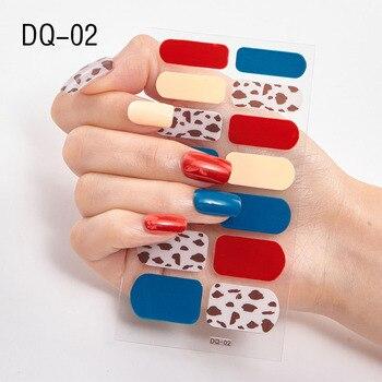 14pcs/sheet Glitter Gradient Color Nail Stickers Nail Wraps Full Cover Nail Polish Sticker DIY Self-Adhesive Nail Art Decoration 130