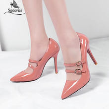 Женские туфли лодочки на высоком каблуке с острым носком размеры