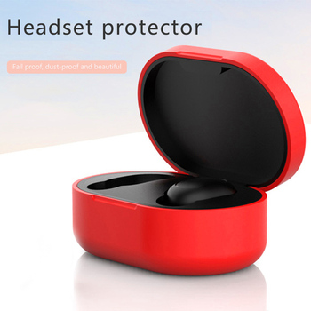 Silicone Earphone Case for Xiaomi for MI for Redmi AirDots Headphones Cover TWS Bluetooth Earphone Wireless Headset Shell image