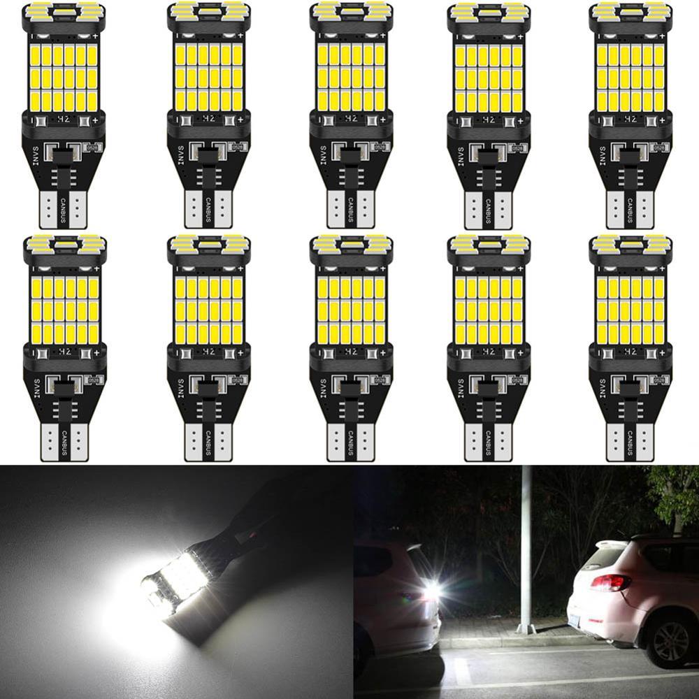 Светодиодсветодиодный лампы Canbus T15 W16W, 10 шт., 920 лм, для заднего хода, 921, 912, без ошибок, 4014SMD, сверхъяркая резервсветильник лампа для парковки, 12...