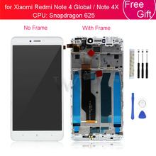 Dla Xiaomi Redmi note 4x snapdragon 625 LCD ekran dotykowy Digitizer montaż + rama dla Redmi Note 4 globalna wersja naprawa części