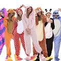 Пижама кигуруми с единорогом, ночная рубашка для взрослых, пижама с животным, Кроликом, фланелевая, с котом, аниме, комбинезоны, женский комб...