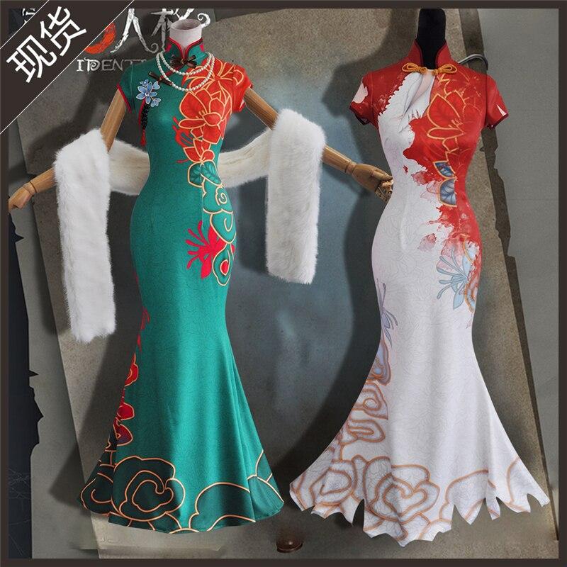 Identity V Crimson Michiko Cosplay New Skin Thirteen Niang Elegant Sexy Cheongsam Dress Cosplay Costume H