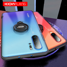 for Huawei P30 Pro Case,ICONFLANG Ring Kickstand 360 Degree Rotating Drop Protection Shock Absorption Magnetic Car Mount Case