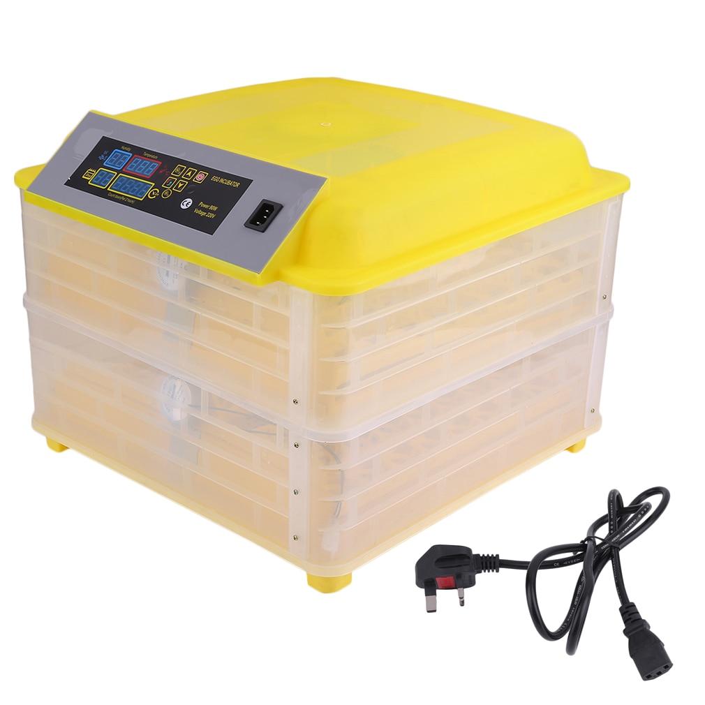Профессиональная автоматическая курица 96 инкубатор для яиц утка яйцо птицы оборудование для инкубаторов контроль температуры инкубаторов инкубаторная машина Великобритания вилка