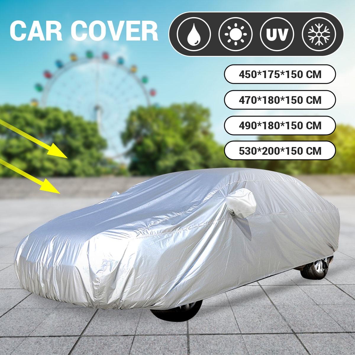 M L XL XXL Universal Full Car Cover Anti Rain Snow Ice Waterproof Dustproof UV Outdoor