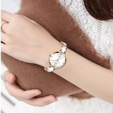 SUNKTA reloj de cuarzo dorado rosa con diamantes de imitación para mujer, reloj de pulsera sencillo y fino, 2019