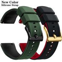 Quick Release Gummi Armband Silikon Uhr Band 20mm 22mm Huawei Samsung Garmin Uhr Ersatz Armband