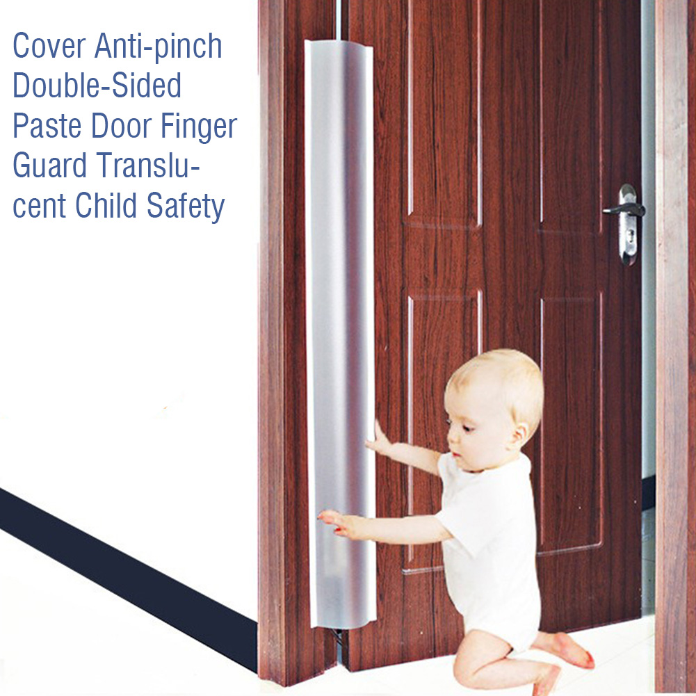 Cover Translucent Protection Strip Edge Corner Child Safety Home Kindergarten Double-Sided Paste Door Finger Guard Anti-Grip