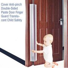 Capa proteção translúcida tira borda canto segurança infantil jardim de infância em casa dupla face colar porta dedo guarda anti-aperto