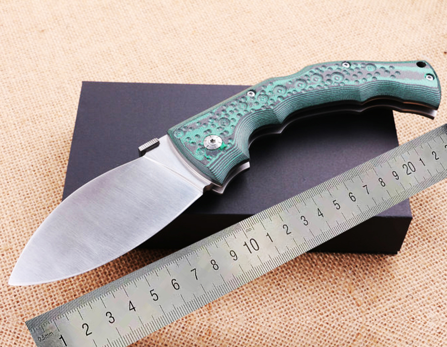 cold folding knife 440C blade Mikata handle Green tactical outdoor camping Survival Hunting Pocket Knife EDC hand tool