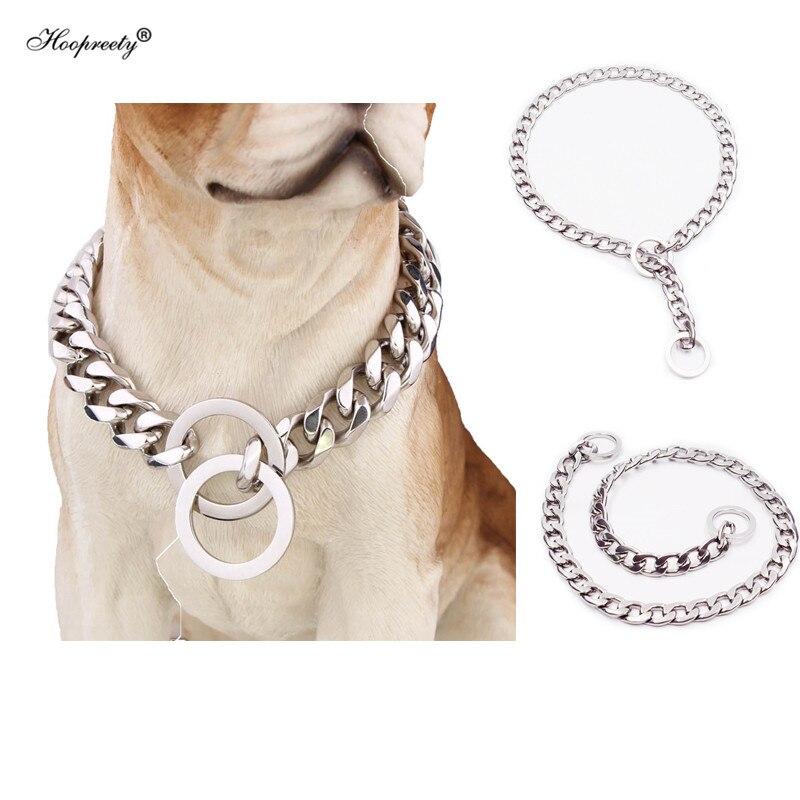 Colliers de Chien antidérapants en acier solide pour gros chiens bouledogue français Pitbull berger allemand Beagle chaîne de dressage accessoires de Chien