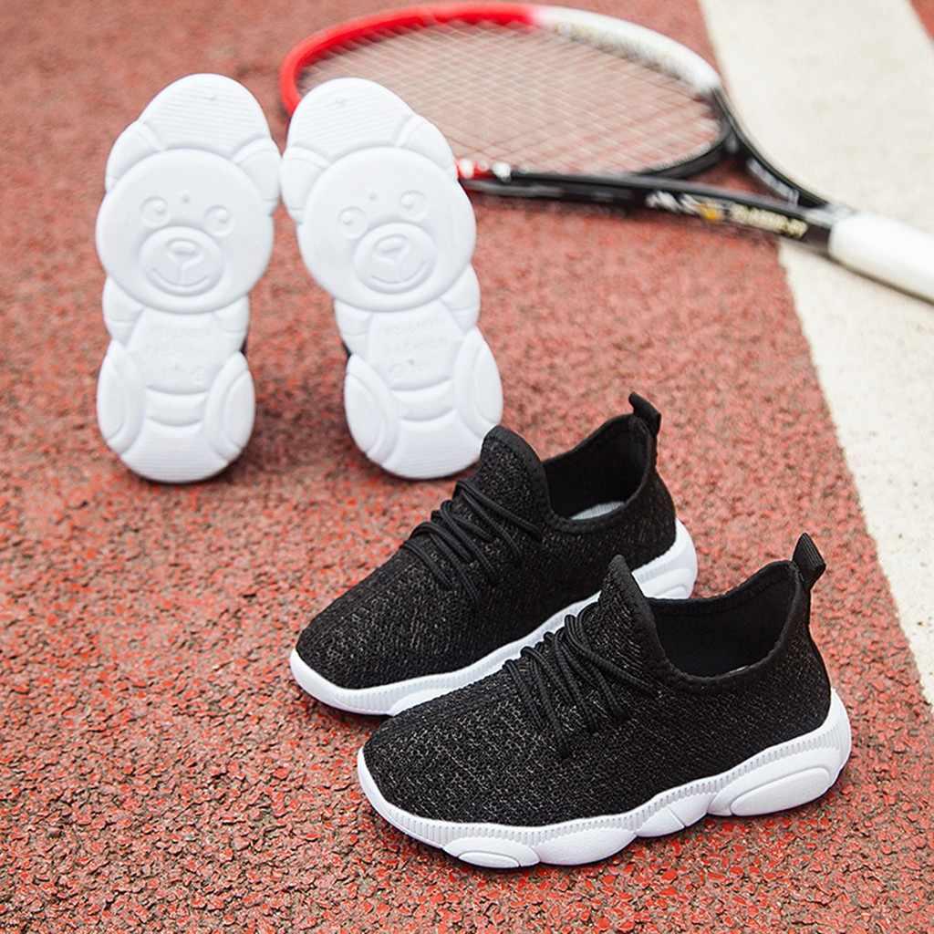 ילדים בני סניקרס 2019 ילדי תינוק תינוק בנות בני מוצק רשת ספורט Sneaker נעליים יומיומיות Zapatilla דה niño # XP25