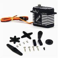 JX Servo CLS-HV7346MG 46KG HV wasserdichte Stahl Gang Voller CNC Aluminium Shell Digital Standard Servo für hubschrauber