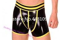 Fashion Black Latex Men Panties Party Wear Rubber Underwear Boxer Shorts sex panties