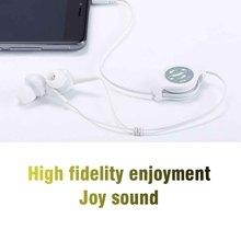 Écouteurs intra auriculaires portables avec câble extensible de 0.75m, oreillettes avec insertion droite/prise en forme de L, 3.5mm, nouveau
