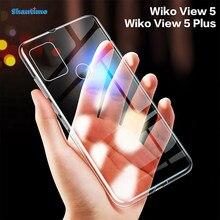 Wiko görünüm için 5 kılıf Ultra İnce şeffaf yumuşak TPU kılıf kapak için Wiko görünüm 5 artı coque Funda