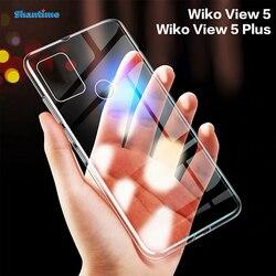 Para wiko vista 5 caso ultra fino claro tpu macio capa para wiko vista 5 plus couqe funda