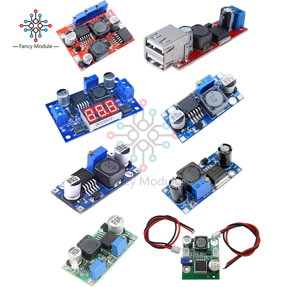 LM2596S LM2596 DC-DC 3.2V-40V To 1.25V-35V 2A Adjustable Step Down Power Supply Buck Converter Module Voltage Regulator Module