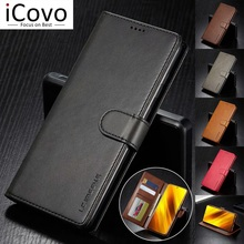 Leather Wallet Case Voor Xiaomi Poco F3 X3 Pro Nfc M3 Flip Cover Redmi Note 10 9S 9 Power 9T 9A 8T 8 Ultra Dunne Coque Funda K40