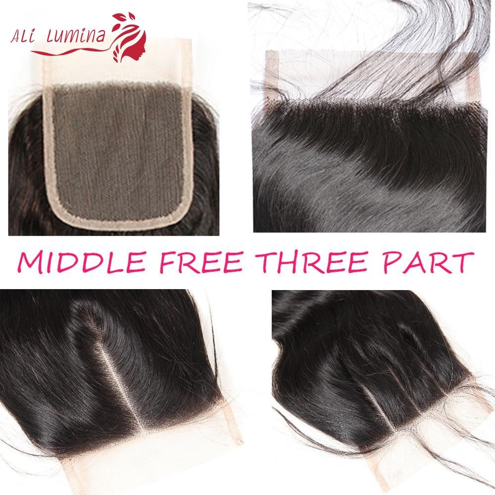 4x4 Lace Closure 100%  Closure  Sample     Hair Straight Frontal 8 Inches Short Hair 5