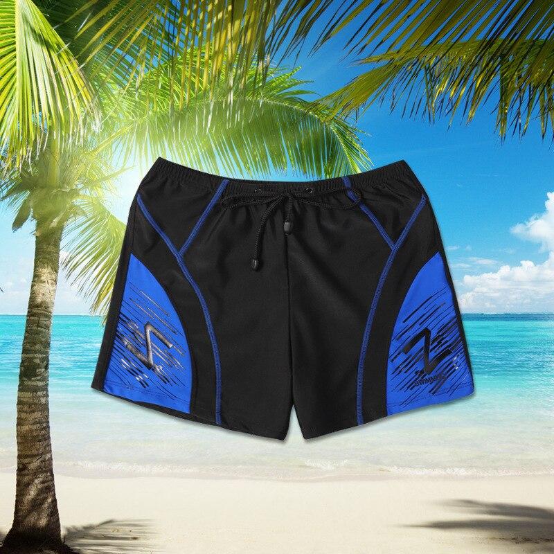 New Style Swimming Trunks Men Boxer Pattern Swimming Trunks Large Size Fashionable Swimming Trunks Chinlon Swimming Trunks