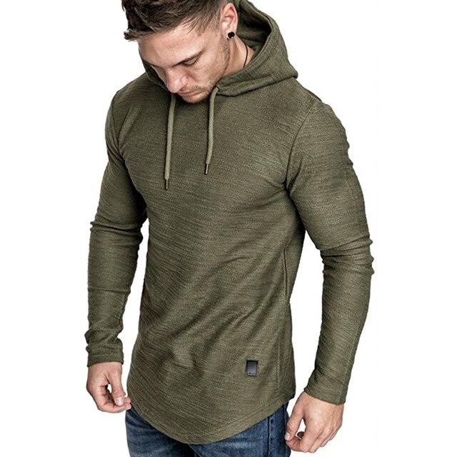 2021 New Men's Brand Pure Color Sweatshirt Fashion Men's Hoodie Spring Autumn Winter Casual Hoodie Men's Long Sleeve M-3XL 2