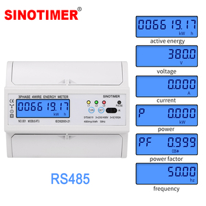 3 Phase 4 Wire RS485 Modbus 380V 100A DIN Rail Energy Meter Digital Backlight Power Factor Monitor with Voltage Current Display(China)