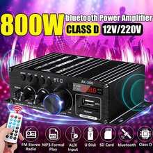 AK380/AK370/AK170 Мощность усилитель аудио караоке домой Театр Усилитель 2 канальный Bluetooth усилителя класса D USB/SD AUX Вход