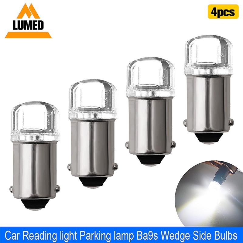 4x BA9S T4W LED Car Light Bulb T2W T3W H5W Interior Car LED License Plate Light 2 LED 2835 SMD DC12V 12913 12910 12929