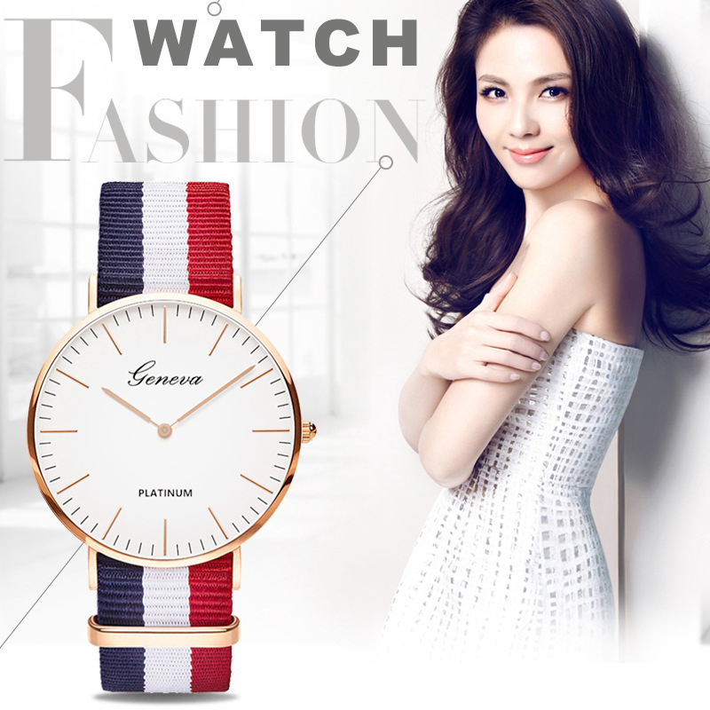 2019 Women Watch Hot Sale Nylon Strap Quartz Top Brand Watches Casual Fashion Ladies Wristwatch  Female Clock Montre Femme