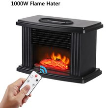 1000W Electric Fireplace Hater With Remote Control Fireplace Electric Flame Decoration Portable Indoor Space Heater Air Heater