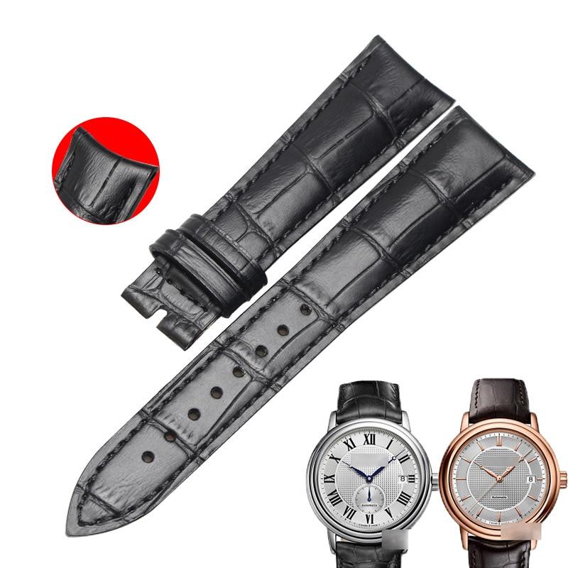WENTULA Watchbands For RAYMOND WEIL 2837/2838/2839 Calf-leather Band Cow Leather Genuine Leather Leather Strap Watch Band