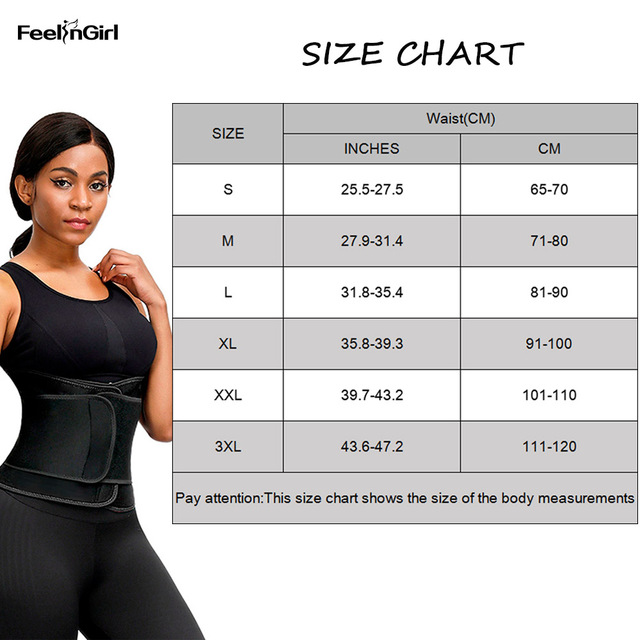 FeelinGirl Women Waist Trainer Hot Neoprene Belt Sauna Sweat Cincher Slimming Strap Body Shaper Tummy Control Lose Weight Fajas 5