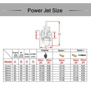 Image 3 - ZSDTRP brand new 21 24 26 28 30 32 34 mm Motorcycle Engine Part Carburetor Mikuni PWK Carburetor With Power Jet Dirt Bike ATV
