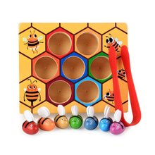 Hive Board Games Montessori Entertainment Early Childhood Education Early Childhood Education Jigsaw Building Blocks Wooden Toys bee hive board games entertainment early childhood education building blocks bee toys early childhood educational wooden toys