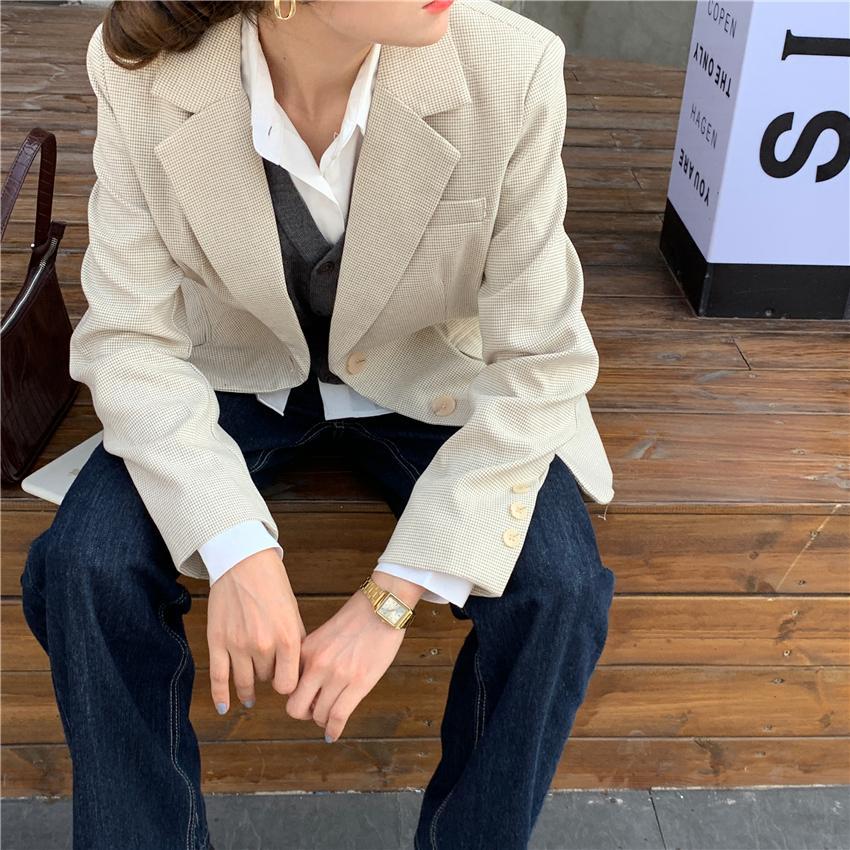 New Spring Women Blazer Jacket Casual Work Suit Coat Office Lady Fashion Pockets Long Sleeve Slim Blazers Female